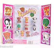 "NEW 1"" Animal Squisheez Squishy Squishies Set Lot Vending Display Party Favors"
