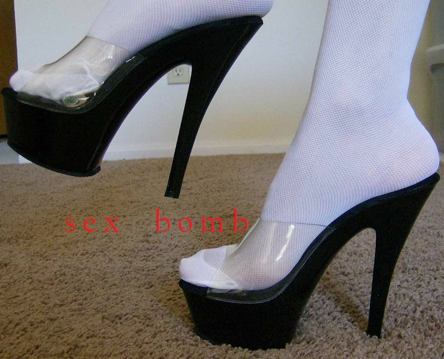 SEXY sabot sandali trasparenti neri PLATEAU TACCO 15 DAL DAL DAL num. 35 AL 44 GLAMOUR 7ead23
