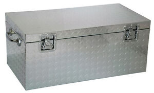 malle metallique aluminium de chantier cantine mal573727 alm ebay. Black Bedroom Furniture Sets. Home Design Ideas