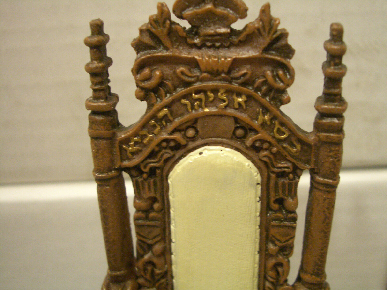 DOLLHOUSE HEBREW, JEWISH, ISRAEL, JERUSALEM ORNATE DINING CHAIRS(CASE 24)DD-04IL