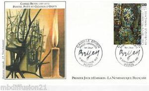 1987-ENVELOPPE-FDC-1-JOUR-PEINTURE-DE-CAMILLE-BRYEN-TIMBRE-Yt-2493