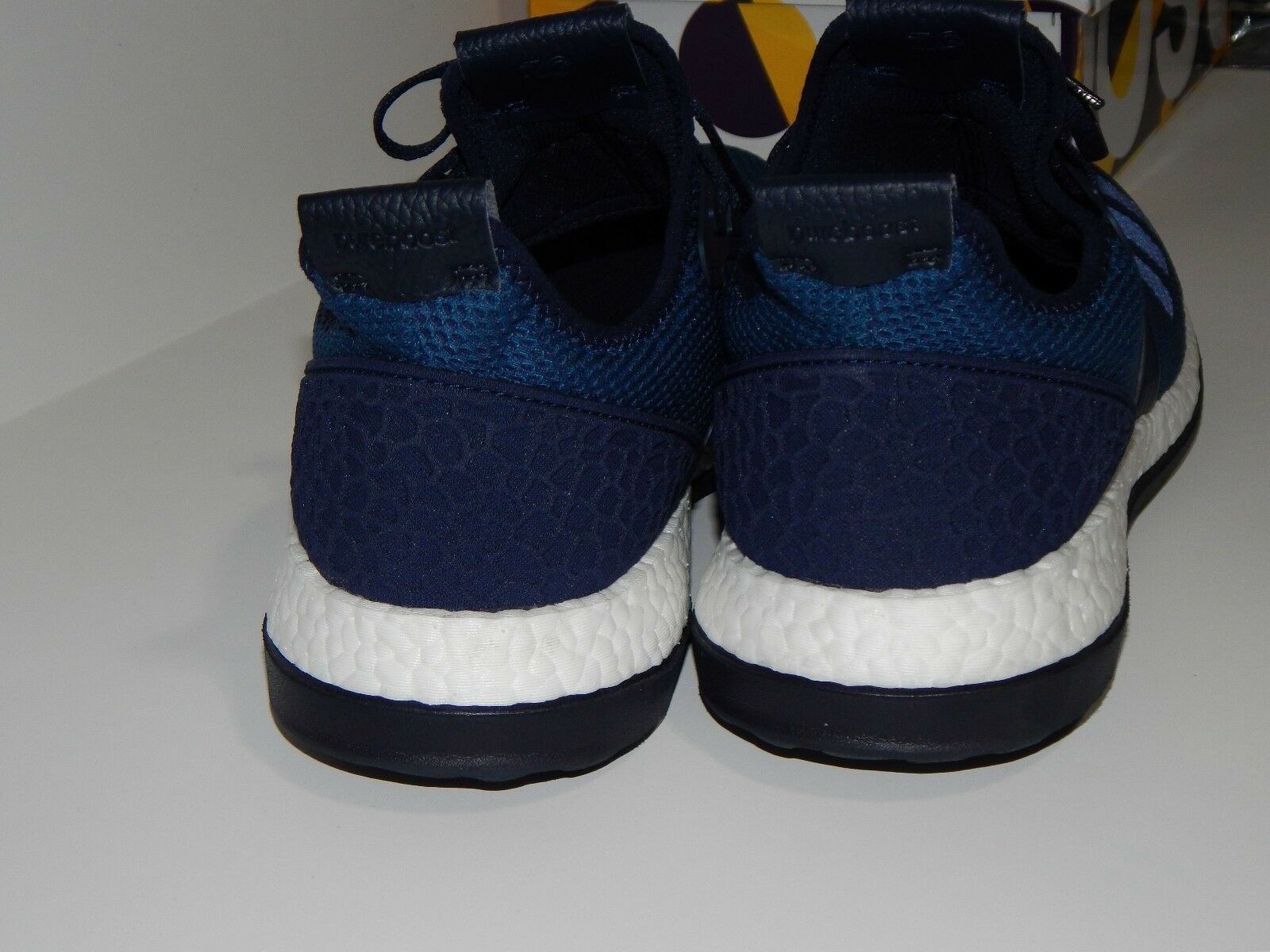 Adidas Originals White Men's PureBoost ZG Shoes 13 GU BO Navy White Originals Clean VNDS de67c2