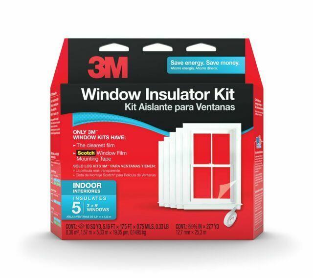 3M 2141W-6 Indoor Window Insulation Kit-5PK 62X210 WNDW INS