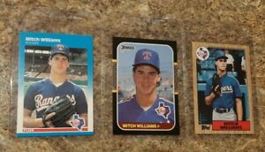 (3) Mitch Williams 1987 Fleer Donruss Topps Rookie card lot RC Cubs Wild Thing