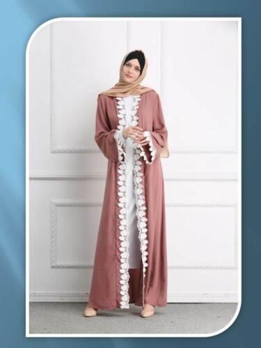 2019 Latest New Open Front Dubai Style Abaya Kaftan Farasha Maxi Dress