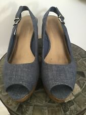 8735f8372b2 item 5 M S Wider Fit Soft Denim Blue Wedge Sandals size 6.5 -M S Wider Fit  Soft Denim Blue Wedge Sandals size 6.5
