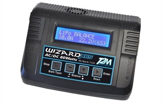 T2m Wizard x6s DUAL-POWER CARICABATTERIE 80w-t1234