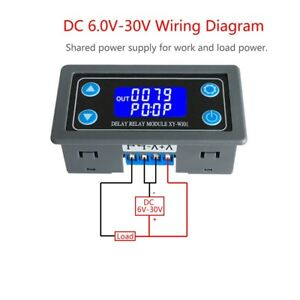 image is loading time-delay-relay-module-digital-lcd-display-6-