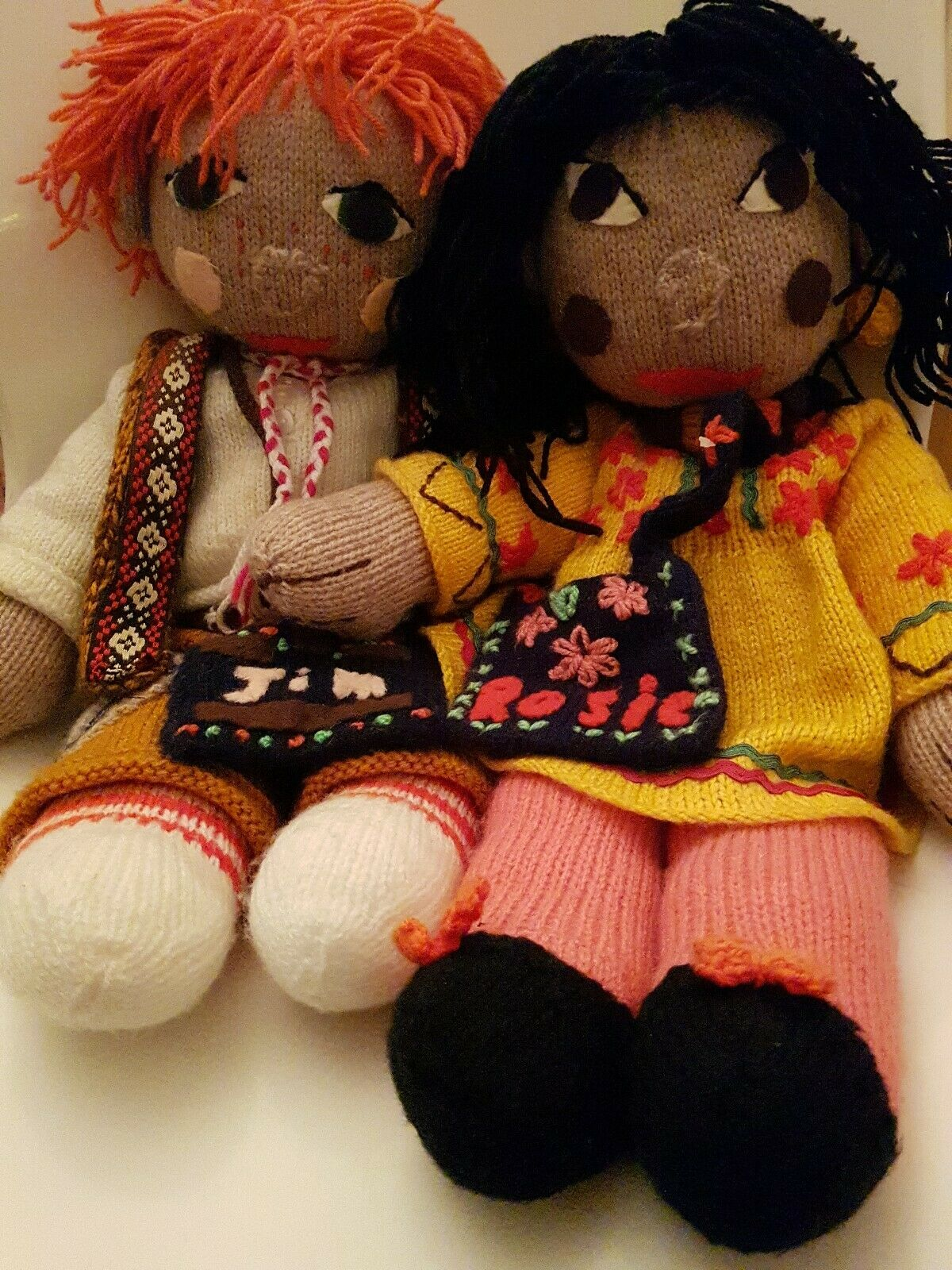 Rosie And Jim Large Jahr Knitted Rag Dolls 20