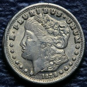 1878 MINI MORGAN DOLLAR COIN USA Plated 34 available price is for 1 item only