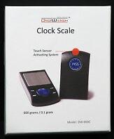 Digiweigh Dw-600c Digital Scale W/handy Clock 600 X0.1 Grams G/oz/ozt/dwt