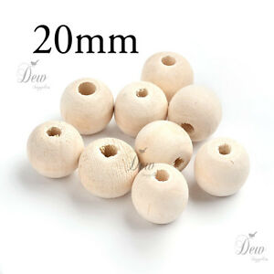 100 x 8mm Round Wood Bead Natural Unpainted Unfinished Wooden Beads Ball Spacer
