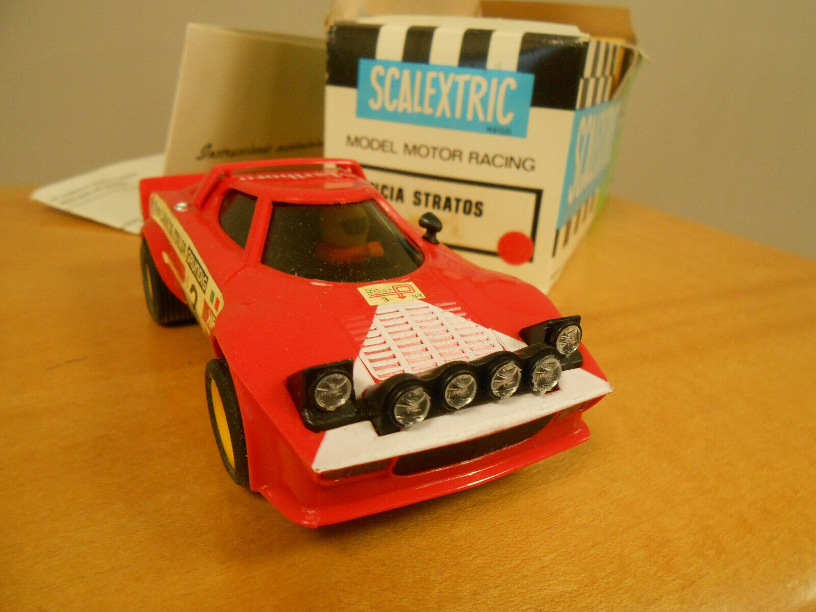 Scalextric Vintage Lancia Stratos Ref 4055. Unused from new Boxed & Instructions