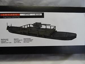 Artitec-80029-Flat-Pontoon-with-8-8-Flak-Gun-Kit-Resin-amp-Metal-Parts-1-87