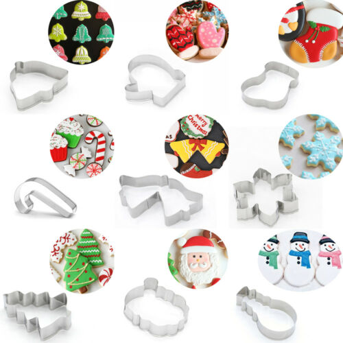 Christmas Cookie Cutter Biscuit Mold Stainless Steel Xmas Theme Baking Tool