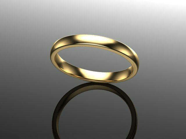 18ct Yellow gold Ladies Comfort Court Wedding Ring-Heavy Weight 2.5mm