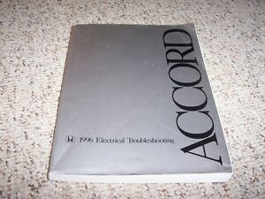 1996 Honda Accord Electrical Wiring Diagram Manual DX LX ...