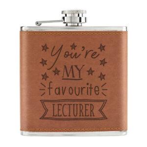 You-039-Re-Mon-Prefere-Maitre-de-Conferences-Stars-170ml-Cuir-PU-Hip-Flasque-Fauve