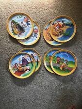 Set Of Eight (8) Vintage Antique Ronald McDonald Plates - Seasons
