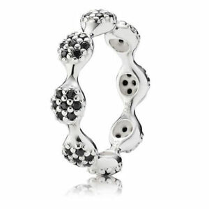 Pandora-Black-Pave-Ring-190889NCK-Stamped-ALE-925-Authentic-Size-52-amp-Size-56