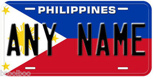 Philippines-Flag-Any-Name-Number-Novelty-Car-License-Plate