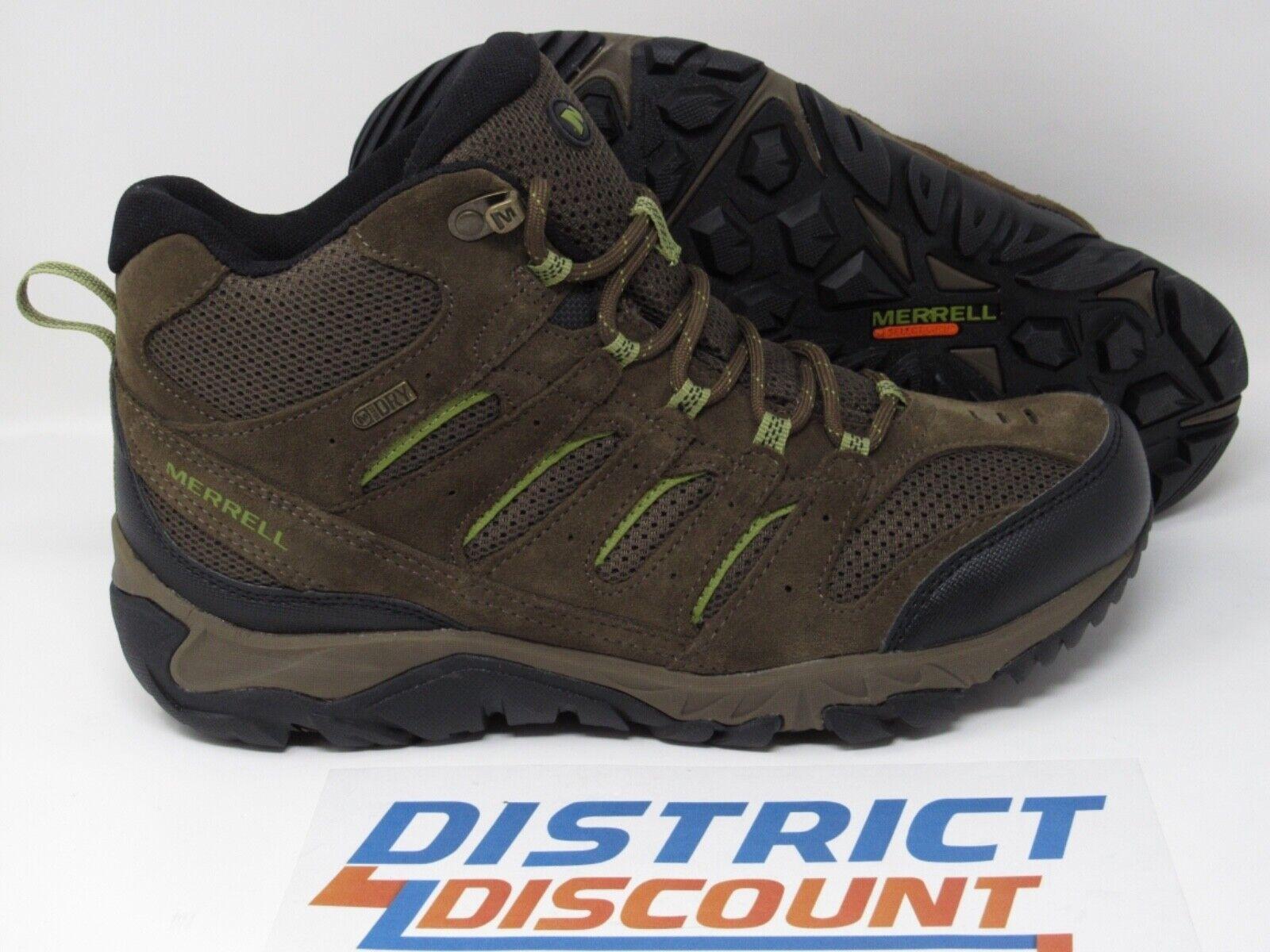 MERRELL White Pine Mid Ventilator Hiking Boots Canteen (J09561) Men's sz 10.5