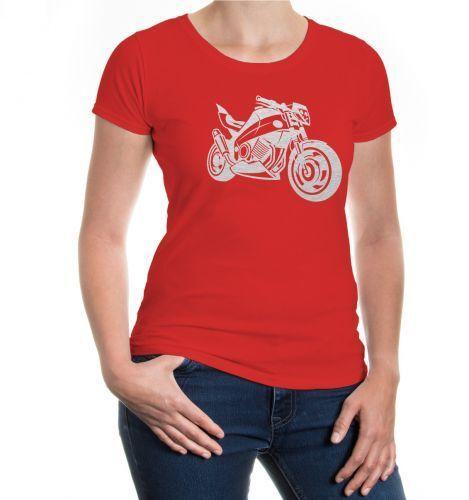 Femmes Manches Courtes Fille T-shirt Motorbike v2 Moto de Compétition Moto Motard