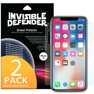 the latest 92255 5c668 Details about Apple iPhone X 10 Screen Protector | Ringke Invisible  Defender Full Coverage 2pc