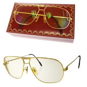 247a91aa1b9 Image is loading Auth-Must-de-Cartier-Trinity-Sunglasses-Vendome-Eye-