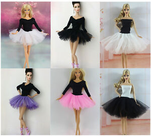 c4bca228d4 Fashion White Lace Ballet Skirts tutu Dress Outfit Gown For Barbie Doll  Clothing