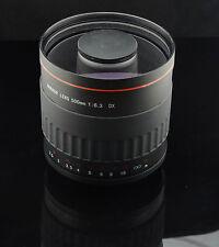 500mm F/6.3 Telephoto Lens for Sony Alpha A200 A330 A550 A290 A380 A390+T2 Mount