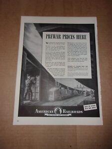 """1943 ORIGINAL-American Railroad-Publicité de magazine Publicité 14"""" x 10 1-4""""-afficher le titre d`origine LRCgslLW-09164501-898905143"""