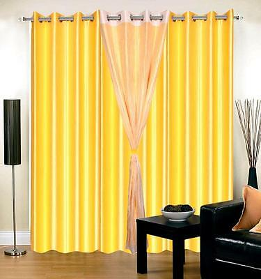 SA Collections Multicolor-406 7Ft Door Curtains-Set of 4