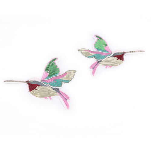 3D Pailletten Stickerei Vögel Patch Applique Nähen auf Kleidung Zubehör PatchZPb