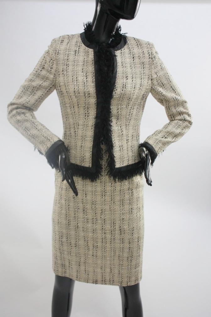 1990s Escada Boucle 2pc skirt suit