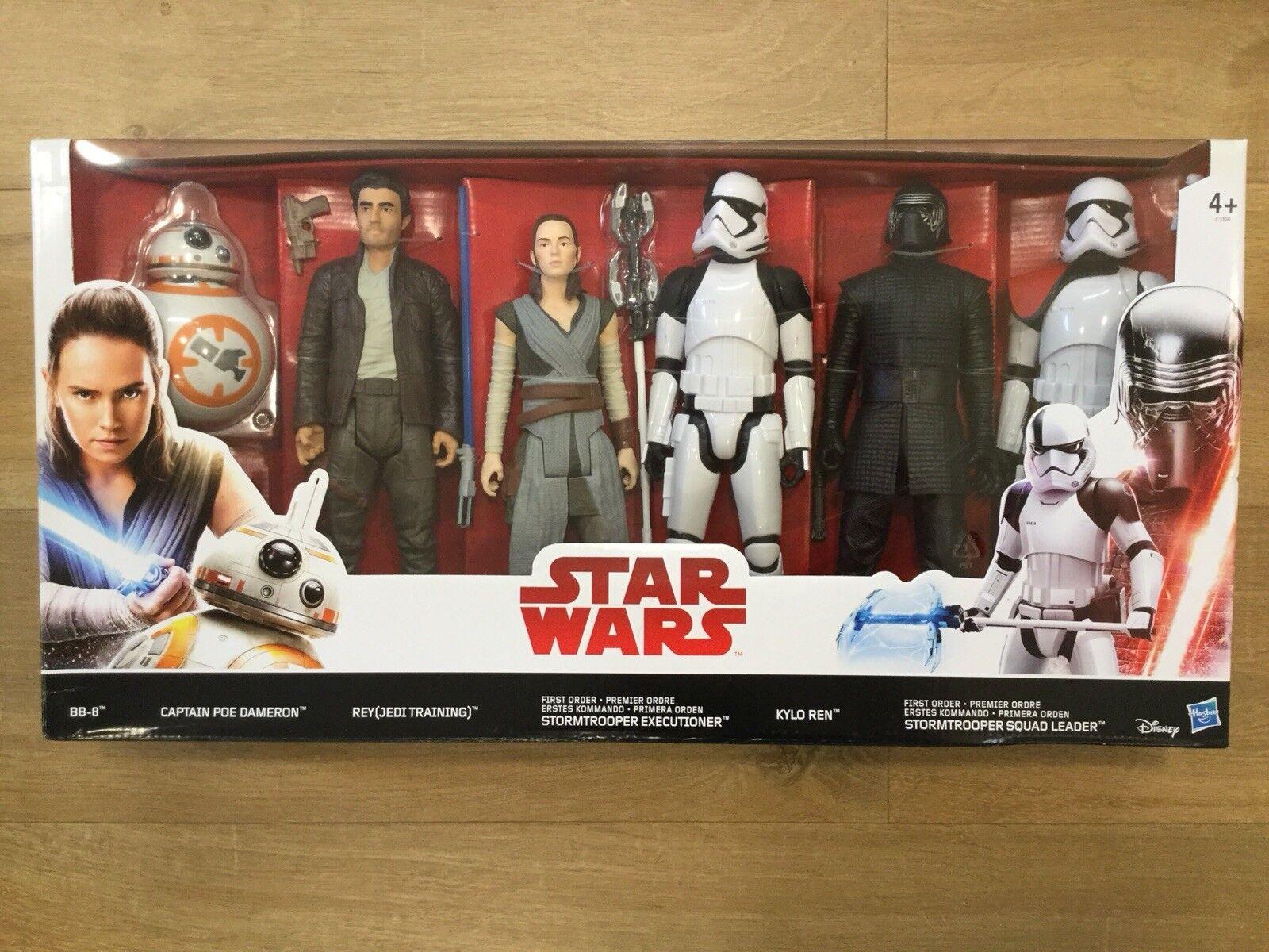 NEW Star Wars Last Jedi 6 Pack of Heroes Action Figures (Hasbro C3198)