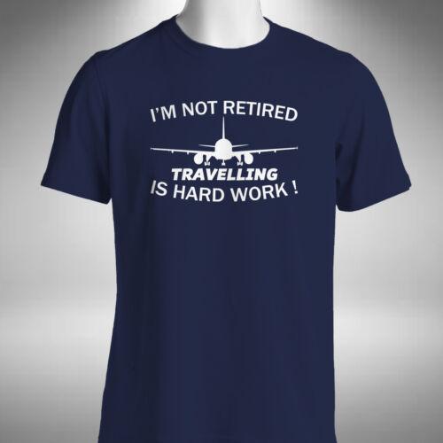 Travelling Retirement Mens T-Shirt Funny Retired Gift Holiday Jet Setter