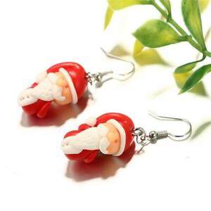 Polymer Clay Christmas Jewelry.Details About Handmade Hook Dangle Polymer Clay Christmas Earrings Ear Stud Santa Claus