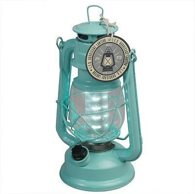 dotcomgiftshop BLUE LED BATTERY POWERED HURRICANE LAMP