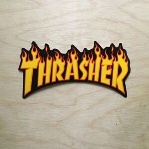 8c3c351250a7 ... Thrasher-magazine-skateboard-sticker-vinyl-logo-skateboarding-fire-