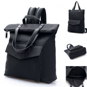 Unisex-Water-Resistant-Fold-Over-Backpack-Purse-Tote-Bag-Travel-15-6-034-Laptop-Bag