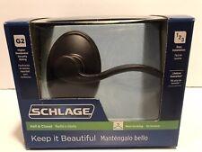 Schlage Hall /& Closet Aged Bronze Reversible Door HandleModel F10 V ACC 716