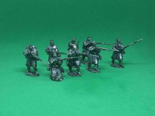 25mm-28mm metal American Civil War RBG Minis US Inf in greatcoats skirmishing