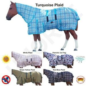 HILASON 66-84 Horse Fly Sheet Uv Protect Mesh Bug Mosquito Summer Spring