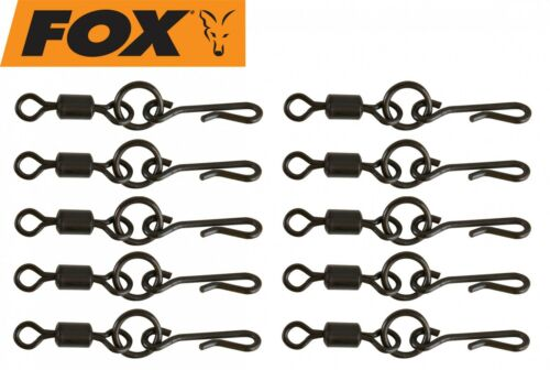 Angelwirbel Fox Edges Kwik Change O Ring Swivels Wirbel zum Karpfenangeln