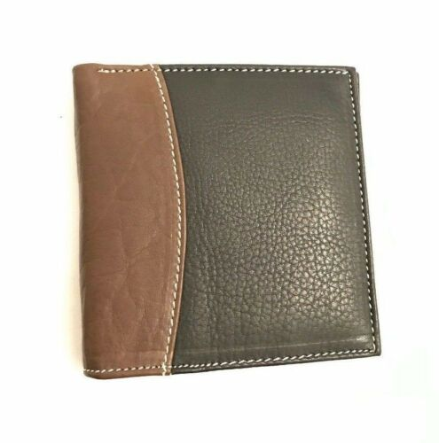 Luxury Soft Quality Mens Leather Bifold Wallet Credit Card Holder