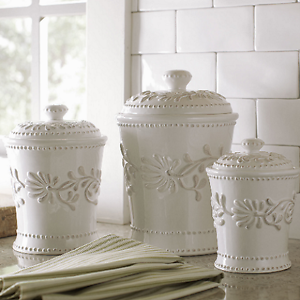 white kitchen canisters sets ceramic kitchen canister set white ivory counter coffee sugar flour canisters 3 801349438550 ebay 8531