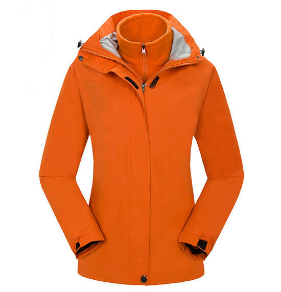 E112 Women Lady Orange Ski Snow Snowboard Winter Waterproof Jacket 6 8 10  12 14 bfe739b36