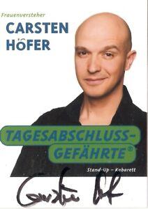 Carsten Höfer Kabarett-Stand Up- Fernehen TV  Frauenversteher- seltenes AK Foto