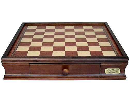 "NEW Dal Rossi Italy Wooden Chess Storage BOX 16"" 2 Drawer pieces sold separately"